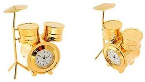 Mini Gold Drum Clock