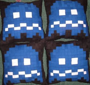 Pacman Ghost Pillows