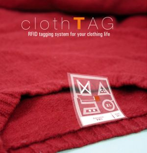 Concept Clothes Label tag uses RFID