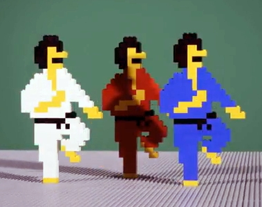 8 Bit Trip Stop Motion Lego Animation