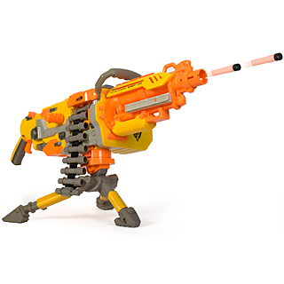 The Nerf Havoc is a foam dart nerf gun that can fire 25 darts in just 8  seconds.