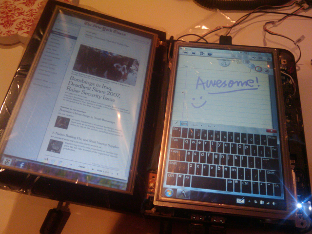 Dual Touch Screen Monitors Dual-touch-screen-tablet