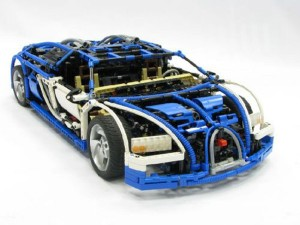 Lego Technic Bugatti Veyron 1 300x225 Lego Bugatti Veyron has 7+1 Sequential Gear Box