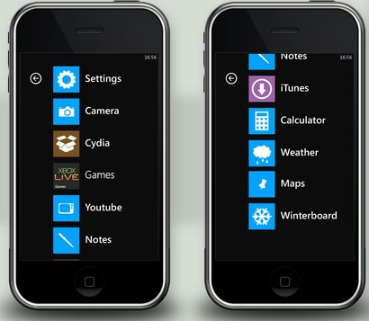 Windows Phone 7 Series Apple Iphone Theme In The Works