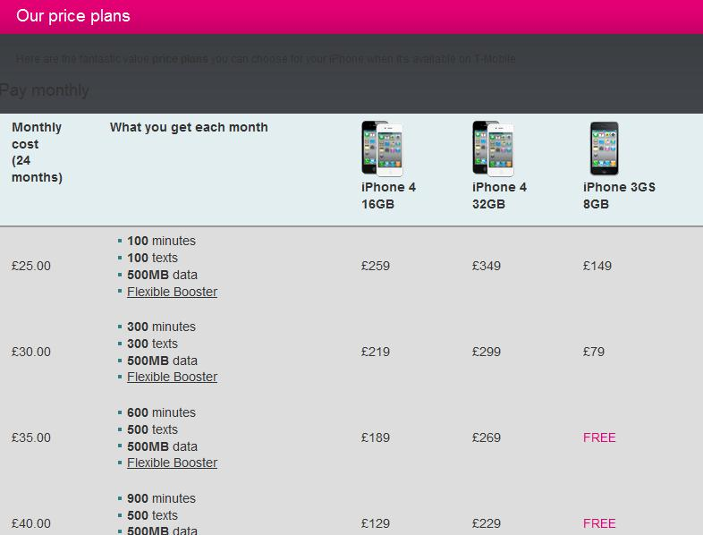 t mobile iphone plans t mobile iphone 4 uk price plans official mobile venue 6979