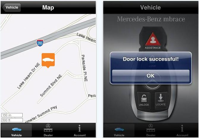 Mercedes benz mbrace iphone app launches mobile venue for Www mercedes benz mobile com iphone