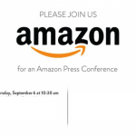 Amazon press conference going ahead on September 6