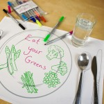 Doodle Placemats for Entertaining the Children at the Dinner Table